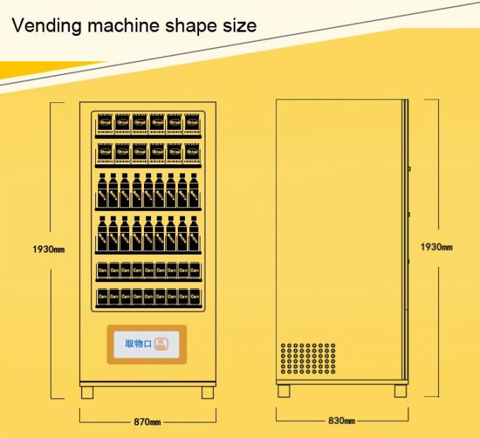 24 Hours Automatic Food Vending Machine ,  Food Vendor Equipment, micromarket