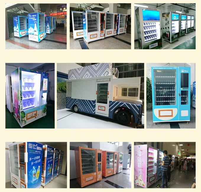 Small Size 24 Hours Customized Vending Machine Double Tempered Glass Door Easy Moving