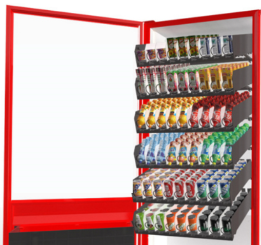 Protein Beverages Snack Food Milk Vending Machine , 55 Inch Touch Semi Transparent Screen Vending Machine