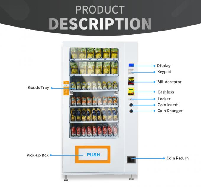 Convenience Store Peanut Snack And Drink Vending Machines For Minuman Snek In Malaysia
