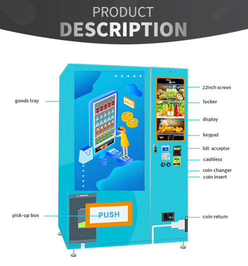 Mobile Phone Accessories Media Vending Machine With Large Screen