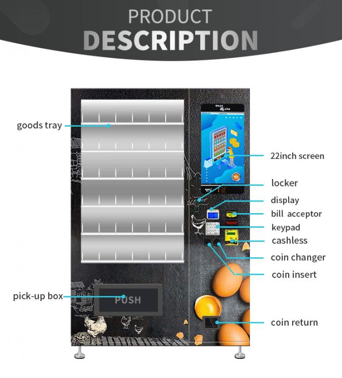 Customize Painting Eggs Elevator Vending Machine Protected Goods For Small Supermarket