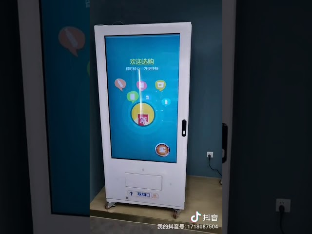 LED Lighting Lucky Vending Machine With Cashless Payment Systems