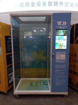 Tempered Glass Sun Cream Vending Machine With Various Payment Solutions