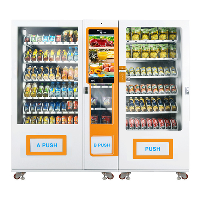China Metal Frame elevator Vending Machines for sale Easy maintain Touchscreen For Advertising factory