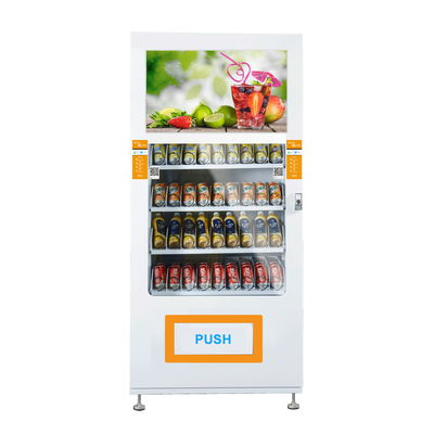 China Customized Sticker Electronic Automatic Vending Machine With Metal Frame factory