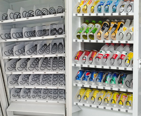 Metal Frame Automatic Vending Machine Steel Trays For Solidity And Strength