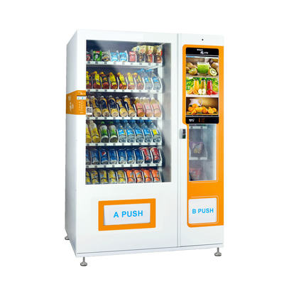 Media Vending Machine For Selling Foods And Drinks Combo vending machine