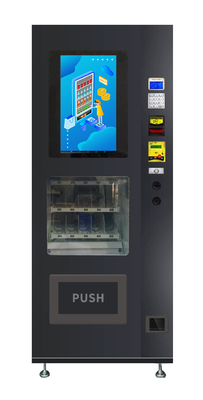 China Mini Snack Vending Machine With Double Tempered Glass And Freezing Temperature System factory