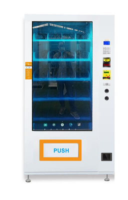 Semi Transparent Screen Media Vending Machine With Cooling System