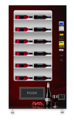 Red Wine Vending Machine With Elevator Lift / Refrigerated Vending Machine