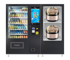 Noodles Lunch Box Fast Food Snacks Drinks Automatic Vending Machine With Microwave Oven