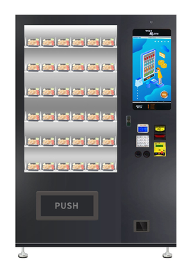 Public Convenient Breakfast Food Sandwich Custom Vending Machine With Microwave