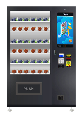 China Micron Fresh Fruit Salad Vegetable Vending Machine With 22 Inch Screen / Refrigerator And Elevator factory