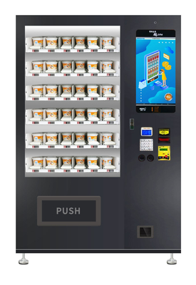 China Micron Belt Conveyor Sandwich Cupcake Vending Machine With Lift And Touch Screen factory