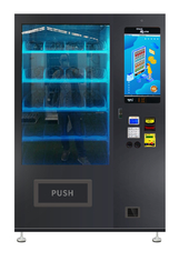 China Drink Bottles / Snack Food Vending Machine With Translucence Touch Screen factory