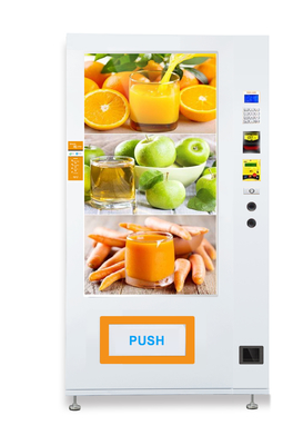 Convenience Store Advertising Vending Machine With 55''LCD Screen And Conveyor Belt