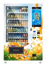 China Automatic Snack Food Drinks Combo Vending Machines With LCD For Convenience Store factory