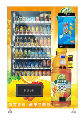 Salad Jar Canned Bottle Vending Machines With 22 Inch Touch Screen
