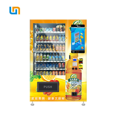China Salad Jar Canned Bottle Vending Machines With 22 Inch Touch Screen factory