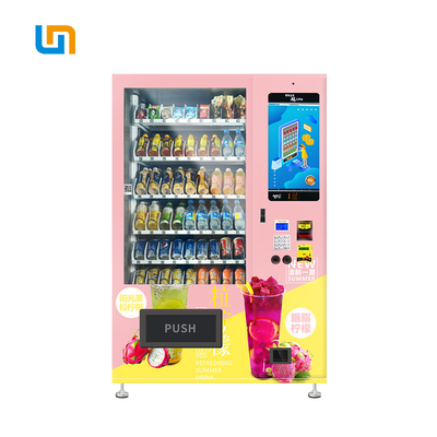 Intelligent Credit Card Milk Drinks Orange Juice Vending Machine With Touch Screen