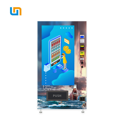 China Cola Pepsi Sprite Bottled Canned Vending Machine With Cooling System Advertising Screen factory