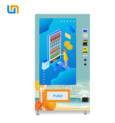 China Cola Bottled Protein Beverages Conveyor Belt Vending Machine Wifi Energy Efficient factory