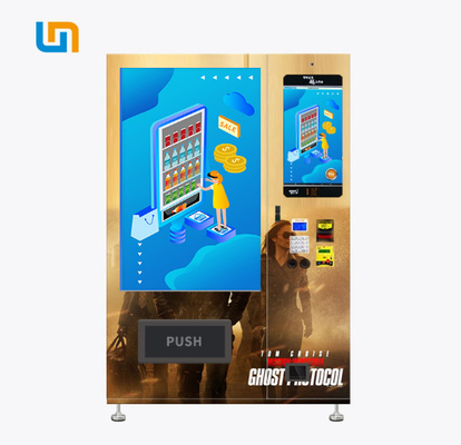 China 337-662 Capacity Media Vending Machine With Oversized Advertising Screen factory