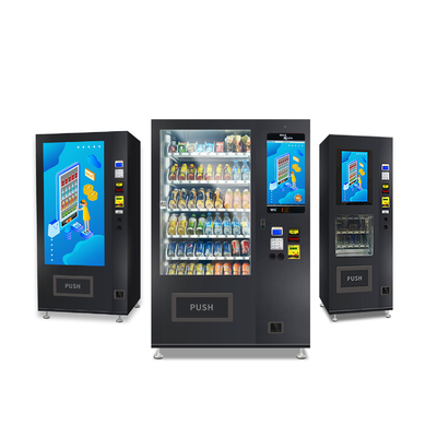 China Small Snack Foods Mini Cashless Vending Machine 125-250 Capacity with touchscreen factory