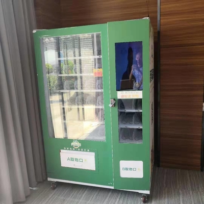 Capacity 337-662 Conveyor Vending Machine / Salad Vegetables Fruit Vending Machine with elevator