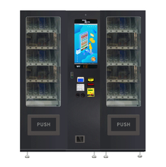China LED Lighting Snack Drink Vending Machine Combo With 22 Inches Touch Screen factory