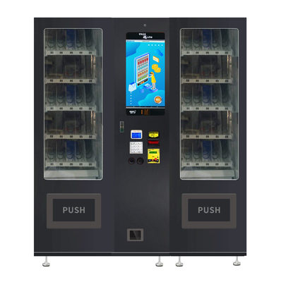LED Lighting Snack Drink Vending Machine Combo With 22 Inches Touch Screen
