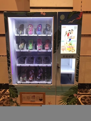 China Socks Automatic Vending Machine Customized Logo And Sticker LED Lighting factory