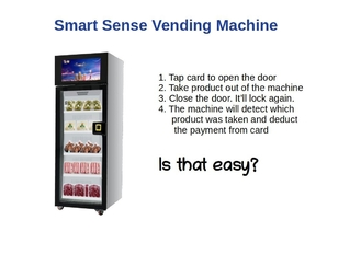 China 300w Smart Sense Automatic Vending Machine For Snacks , Drinks , Fruits factory