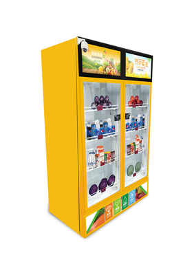 China Smart sense vending machine for snacks, drinks, fruits etc weight sense mini vending factory
