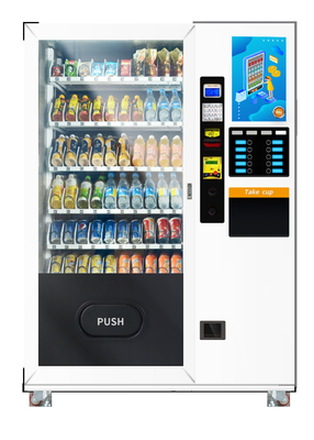 Drink And Coffee Vending Machine With 19 Inch Touch Screen 110V / 220V