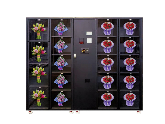 Large Glass Window Flower Vending Machine With GPRS Monitoring System