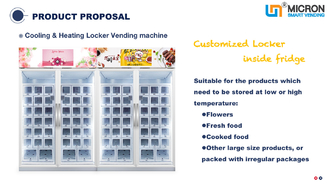 Large Items Locker Vending Machine With Fridge Card Payment System