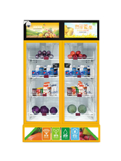 300w Weight Sense Salad Vending Machine Two Door Wireless Payment System