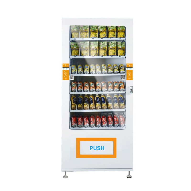 Coin Operated 24 Hours Snack Food Vending Machines With Smart Vending System, accept cash, card reader vending machine