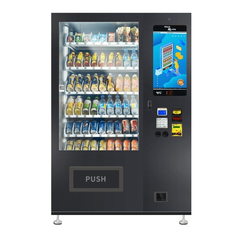 Customized Sticker Snack And Drink Vending Machines With Stable Tempered Glass supplier