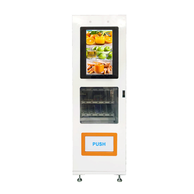 Small Size 24 Hours Customized Vending Machine Double Tempered Glass Door Easy Moving supplier