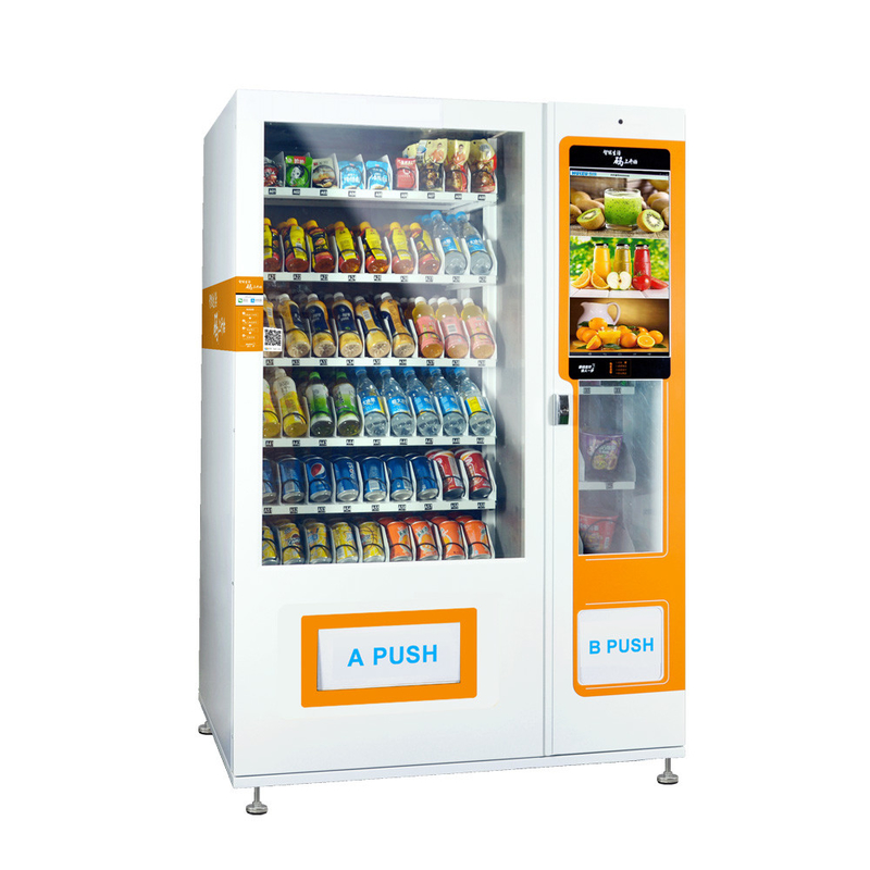 Media Vending Machine For Selling Foods And Drinks Combo vending machine supplier