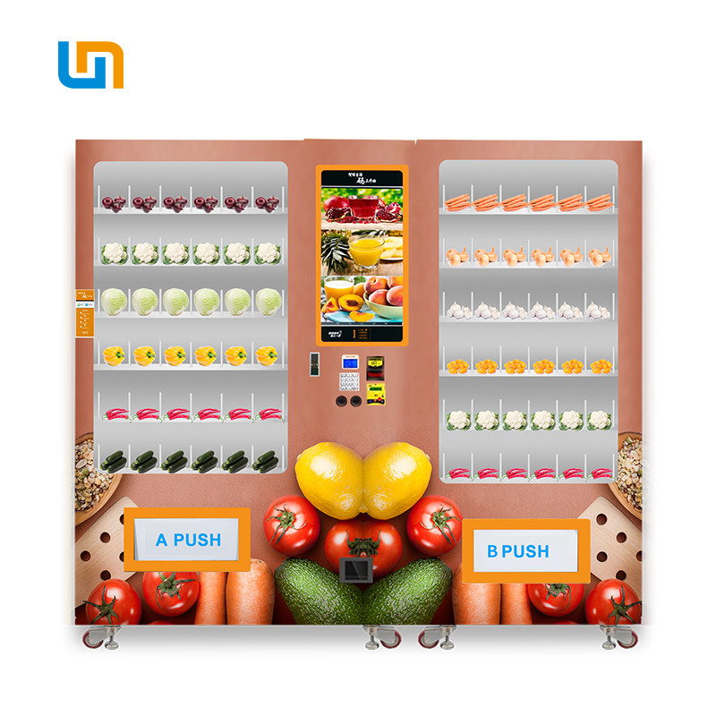 Mini Supermarket Automatic Vending Machine For Vegetable Fruit Large Capacity 653-1193 supplier