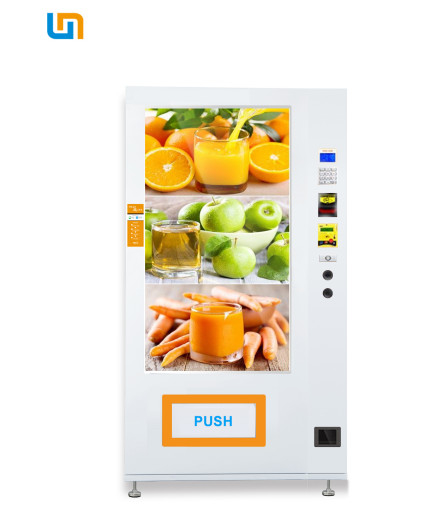 White Color Combo Vending Machine  / Touch Screen Vending Machine supplier