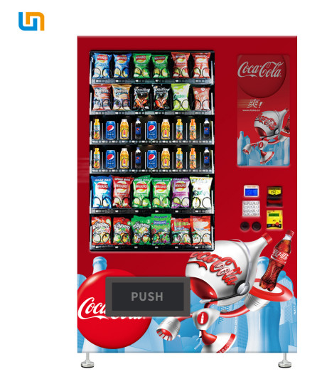 CE Rohs Snack Food Vending Machines With Cooling System And Multiple Payment 22''Touch Screen supplier