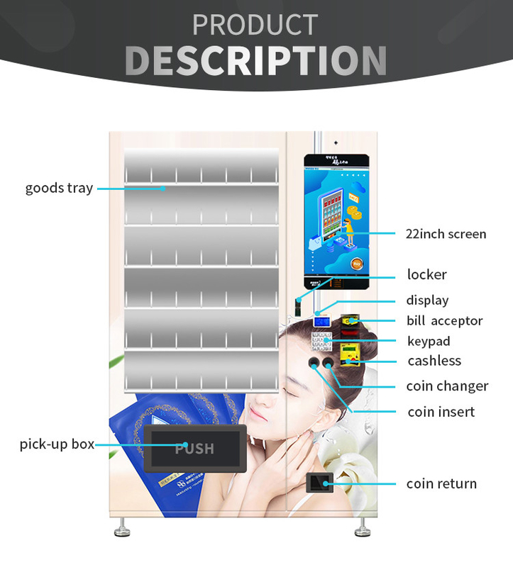 Moisturizing Mask Custom Vending Machines With 22 Inch Advertising Screen supplier
