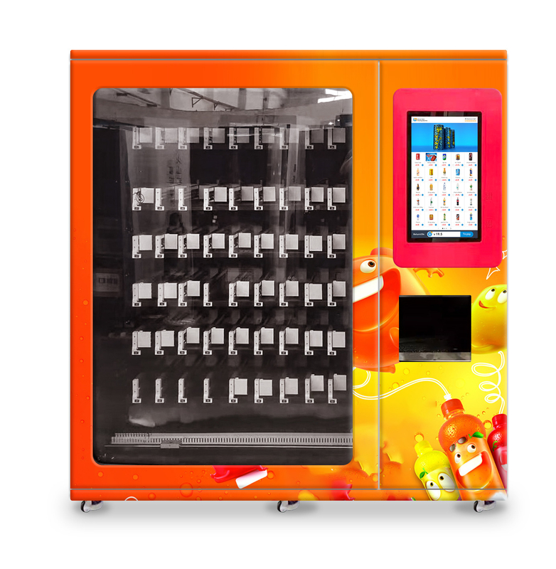 healthy juice vending machine with x-y axis elevator and adjustable channel width function, Micron