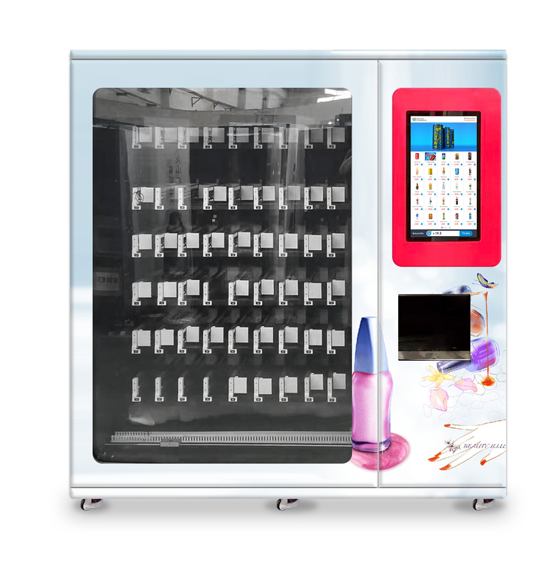nail polish cosmetics vending machine with x-y axis elevator and adjustable slot, Micron smart vending