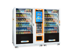 Large Capacity Automatic Vending Machine, Smart vending machine, two cabinets vending machine, Micron Smart vending